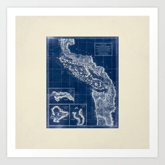 Vintage Blueprint of PNW Art Print