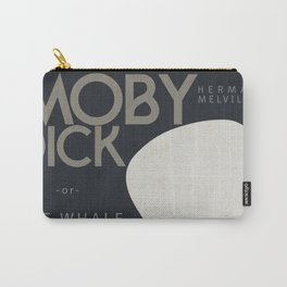 Moby Dick, The Whale, Herman Melville, book cover, american novel, nature, sea adventures, classics Carry-All Pouch