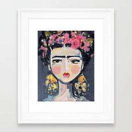 Portrait Inspired by Frida Framed Art Print