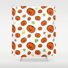 The happy pumpkin Shower Curtain