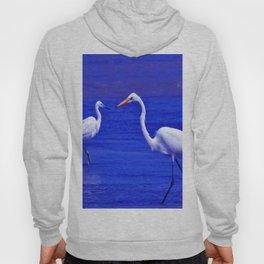ROYAL BLUE GARZA BIRD Hoody