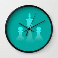 chess Wall Clocks featuring Chess by Asif Mallik
