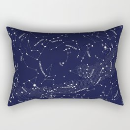 Constellation Map - Indigo Rectangular Pillow