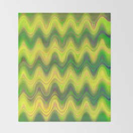 Agate Wave Green - Mineral Series 002 Throw Blanket