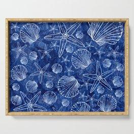 Shells V02 BLUE Serving Tray