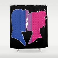 bisexual Shower Curtains featuring Bisexual Love by Winter Graphics