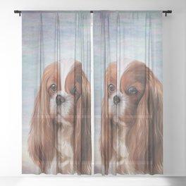 Drawing Dog breed Cavalier King Charles Spaniel Sheer Curtain