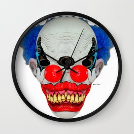 Creepy Clown Wall Clock