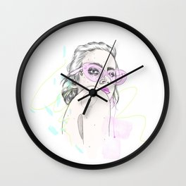 Summer Shades Fashion Illustration Wall Clock