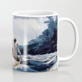 Canoe in the Rapids river landscape by Winslow H-o-m-e-r Coffee Mug