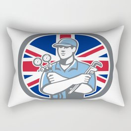 British Refrigeration Mechanic Icon Rectangular Pillow