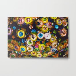 Jeweled Buttons Metal Print