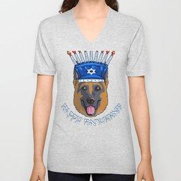 hanukkah shepherd Unisex V-Neck