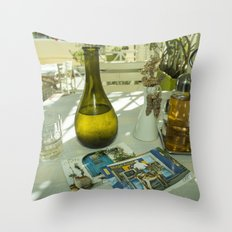 Postcards from Crete Throw Pillow
