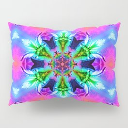 Cannabaphomet (Psychedelic Glitch Mandala Remix Version) Pillow Sham