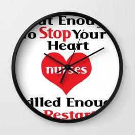 Nurse - Skilled enough to restart it Wall Clock
