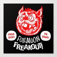 Full Moon freakout Canvas Print