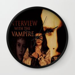 Vampires Interview Wall Clock