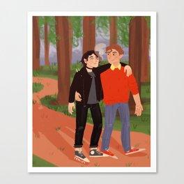 wolfstar walks Canvas Print