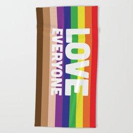 Love Everyone Flag Beach Towel