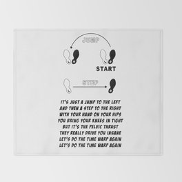 TIME WARP- WITH LYRICS (THE ROCKY HORROR PICTURE SHOW) Throw Blanket