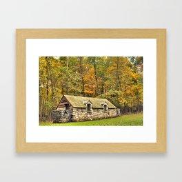 Autumn Rest Stop Framed Art Print