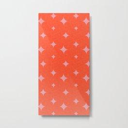 Star Pearl Red Pink Metal Print