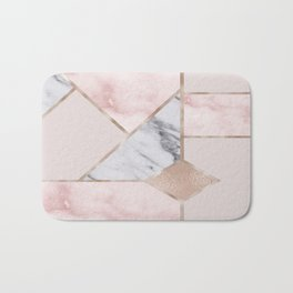 Geometric mix up - rose gold Bath Mat