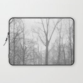 Black and White Forest Illustration Laptop Sleeve