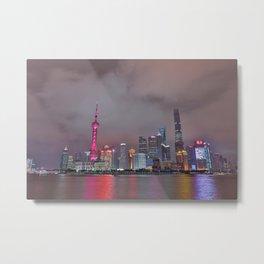 Looking towards Shanghai Metal Print