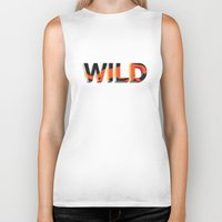 into the wild Biker Tanks featuring wild by Lasse Egholm