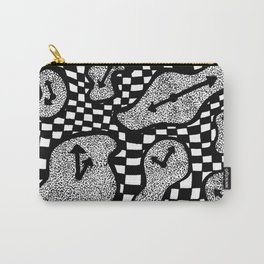 Trippy Clock Carry-All Pouch