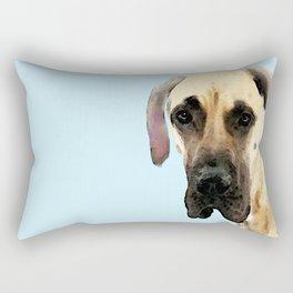 Great Dane Art - Dog Painting by Sharon Cummings Rectangular Pillow