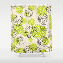 Floral texture Shower Curtain
