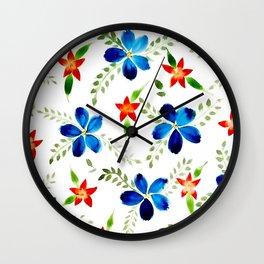 Breezy florals Wall Clock