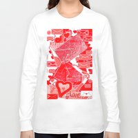 letters Long Sleeve T-shirts featuring love letters by sladja