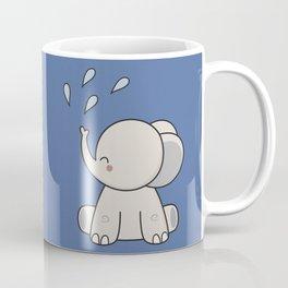 Kawaii Cute Happy Elephant Coffee Mug