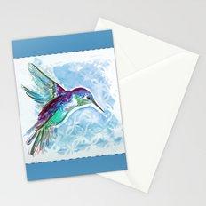 Blue Jewel Box Hummingbird Stationery Cards