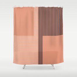 Figaro in Clay Shower Curtain