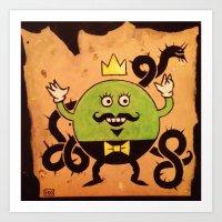 Mr. Lemon Art Print