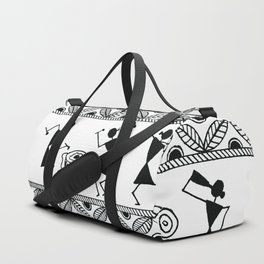 Warli Art Duffle Bag