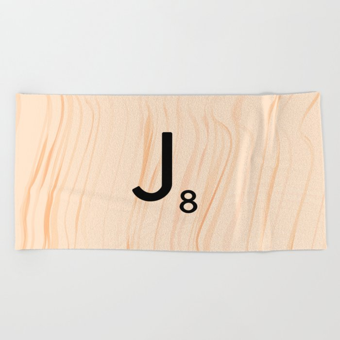 Scrabble Letter J Large Scrabble Tiles Beach Towel By Ekphotoart Gorgeous Decorative Letter Tiles