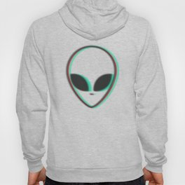 ALIEN HEAD TRIPPY design BLURRY EXTRATERRESTRIAL BELIEVER Hoody