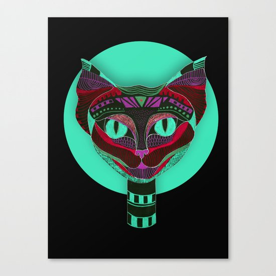 Black CAT- Black Canvas Print