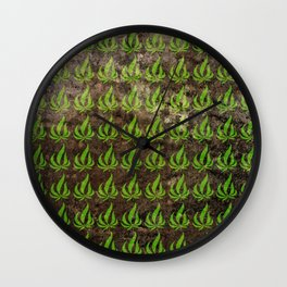 Pot leaf pattern Wall Clock