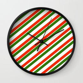 TEAM COLORS 1...Gren ,red,white Wall Clock