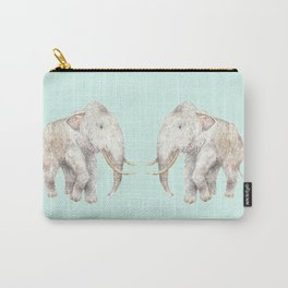 Woolly Mammoth Watercolor Mastodon Painting Carry-All Pouch