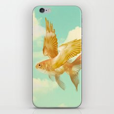 Flying Goldfish iPhone Skin