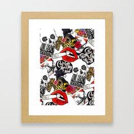 Thinkdeeplyidea_sticker_poster Framed Art Print