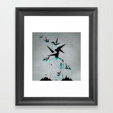 Origami's dream - A collaboration between Christelle Guilhen and Gwenola de Muralt - Framed Art Print